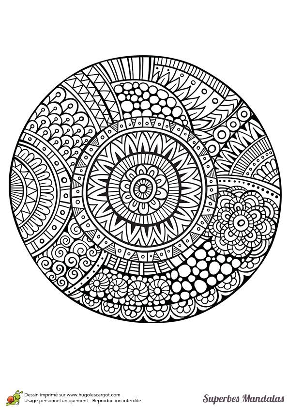 Mandala a imprimer pour les grands 05 mandala coloriage adulte via - Coloriage pour les grands ...