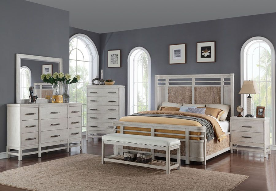 Home Insights Island Breeze Queen Headboard Footboard Rails Dresser And Mirror Furniture Warehouse Furniture Home