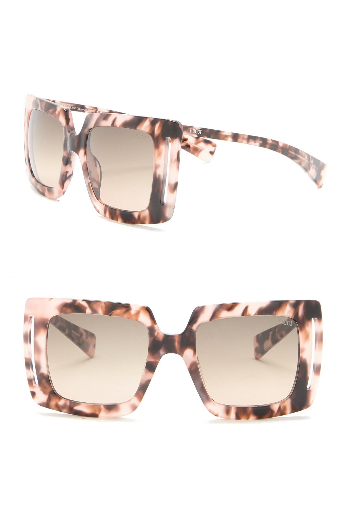 7fe2cfba8cae Emilio Pucci - 51mm Oversized Square Acetate Sunglasses is now 82% off.  Free Shipping on orders over $100.