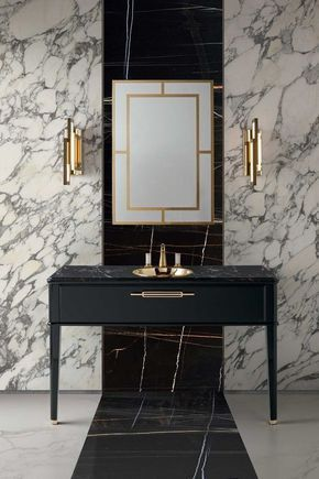 3 Tips And 23 Examples To Create An Art Deco Bathroom # ...