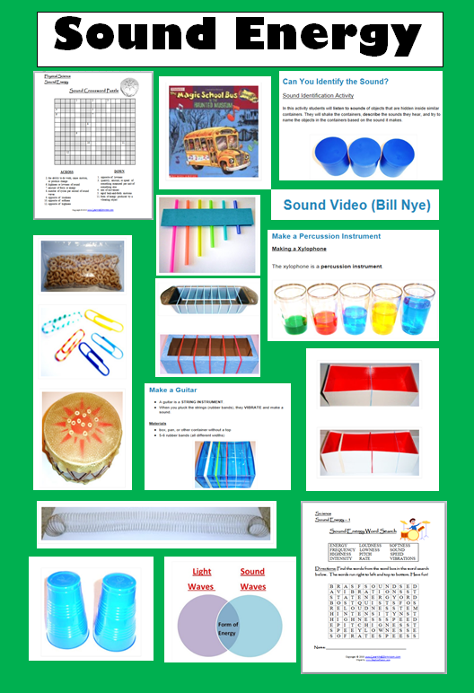15 Fun Resources for Teaching about Sound Energy - Learning Ideas ...