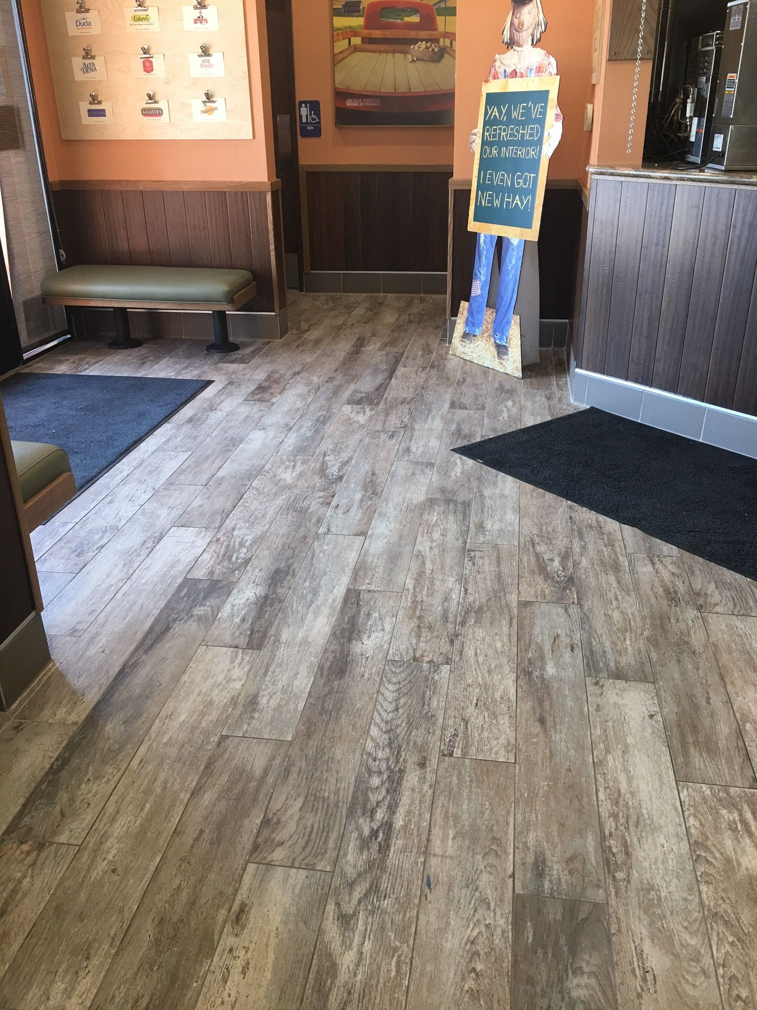 Check out our Club Series Grey woodlooktile at a Farmer Boys