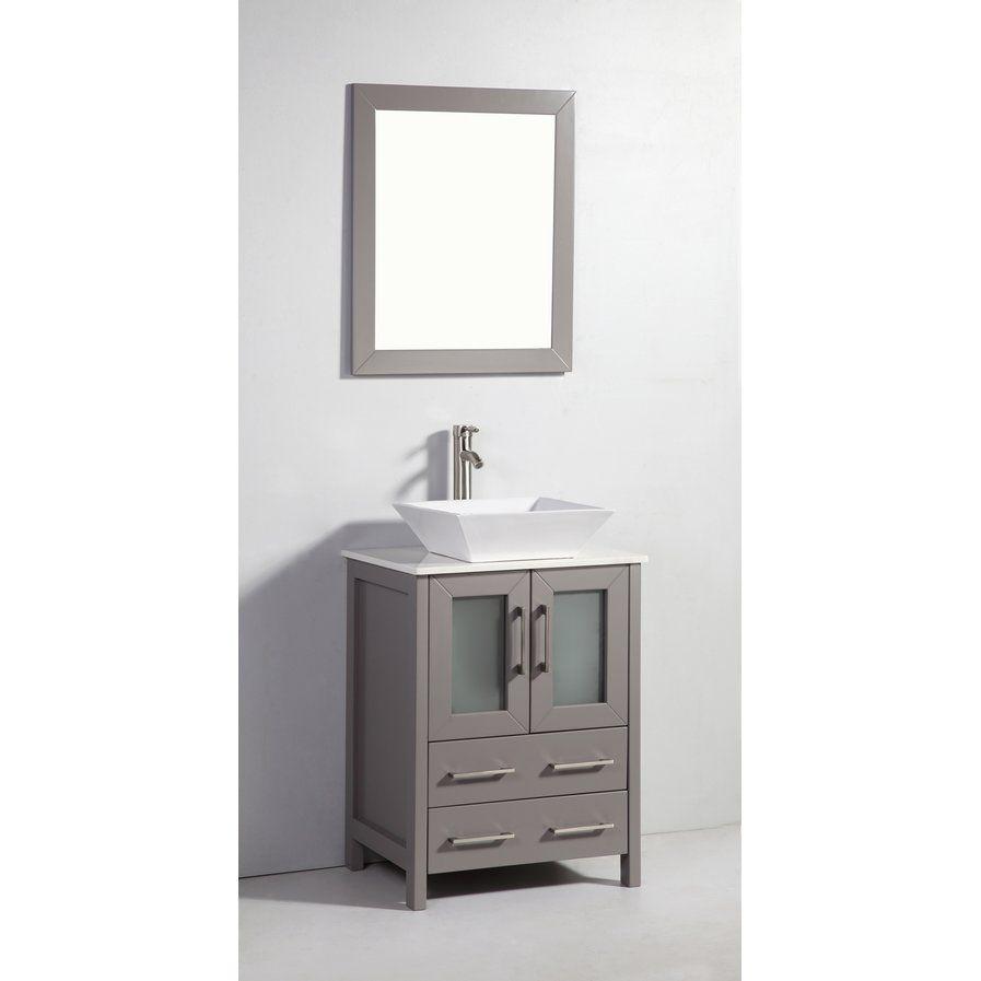 "Meeki 24"" Single Bathroom Vanity Set with Mirror"