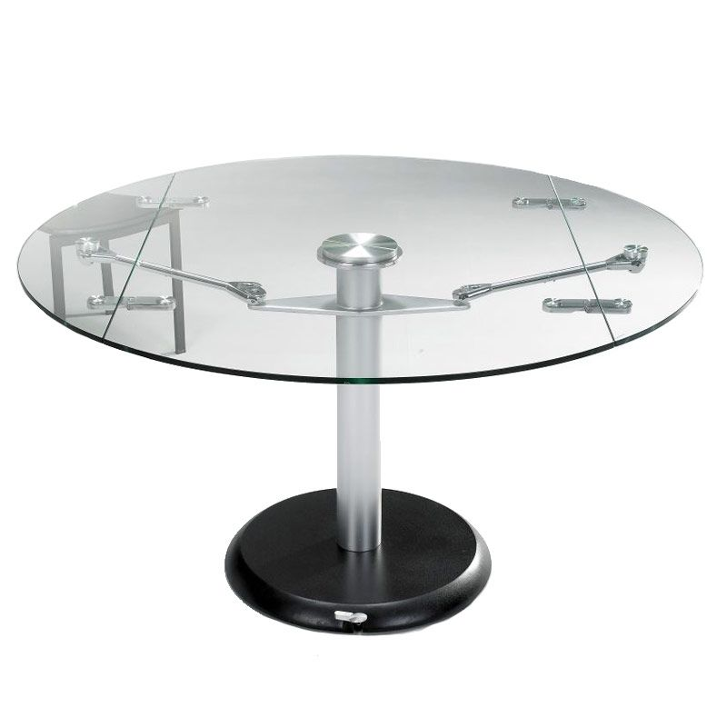 Expandable Round Glass Dining Table  Buy Glass Tables  Dinning Cool Extendable Glass Dining Room Table Decorating Design