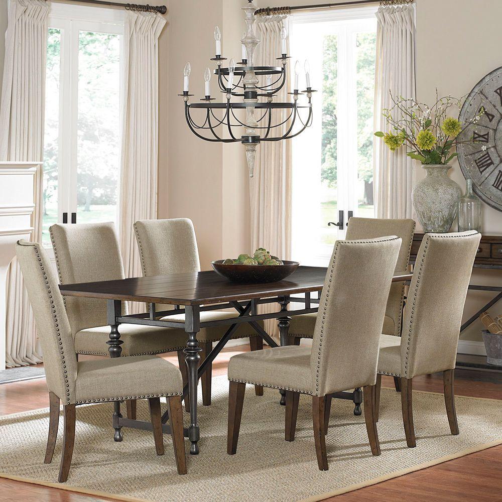 Best Deals On Dining Room Sets: Ivy Park 7-piece Weathered Honey Dinette Set