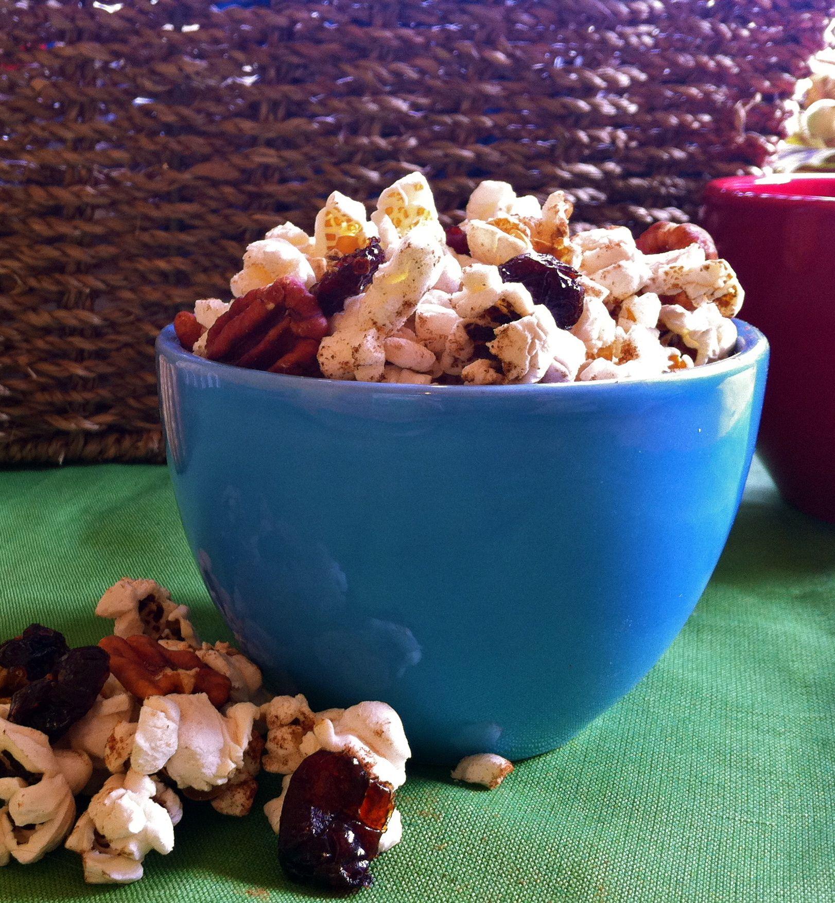 Pumpkin Pie Spiced Popcorn Mix