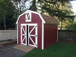 The Rasmussen 10 X 12 Gambrel Shed At Menards Barn Style Shed 10x10 Shed Plans Building A Shed Roof