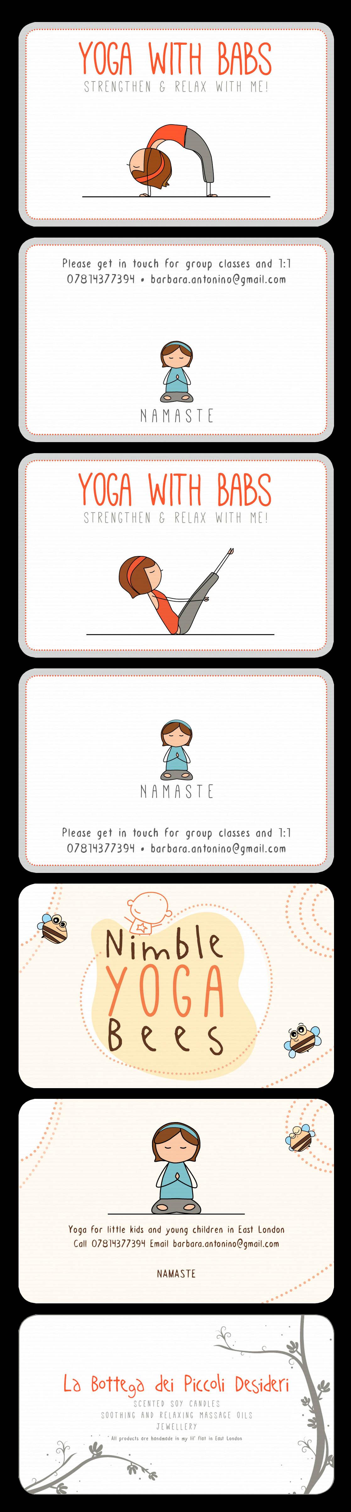 My Yoga Business Cards And Label For My Handmade Products Piccoli Biglietti Da Visita
