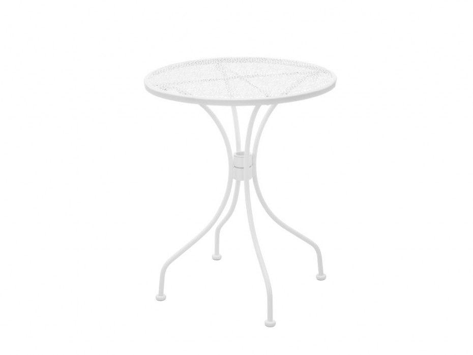 Petite table de jardin pliable en métal DENTELLE - Blanc | Jardin ...
