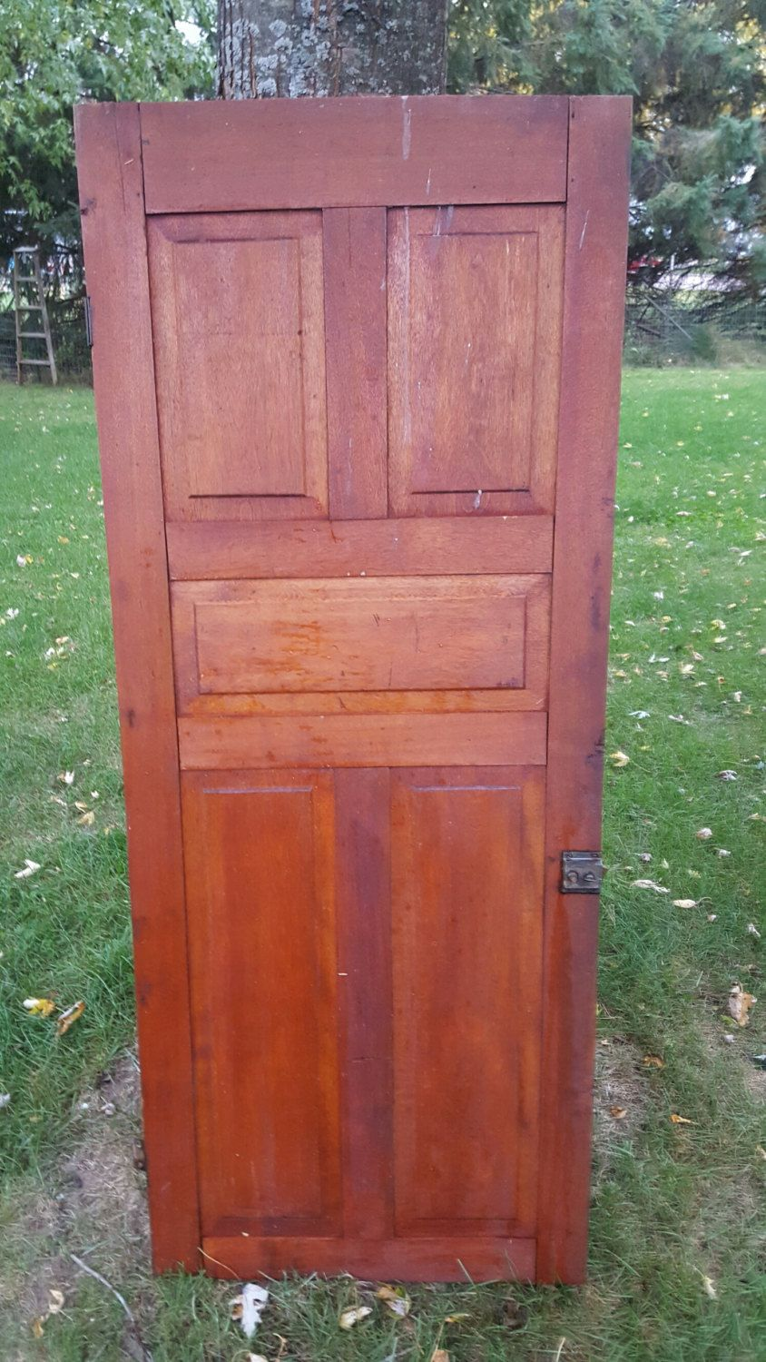 Old Wood Door, Antique, Cupboard Door, Architectural Salvaged, 5 panel,  Arts, Crafts, Panel Door, Solid Wood, Pantry, DIY Project D4 by  ANTFOUNDANTIQUES on ... - Old Wood Door, Antique, Cupboard Door, Architectural Salvage, 5