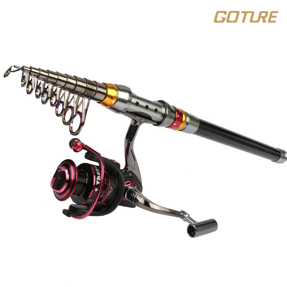 TRAVEL FISHING ROD /& REEL SEA FISHING TELESCOPIC FRESHWATER KAYAK BOAT BEACH ROD