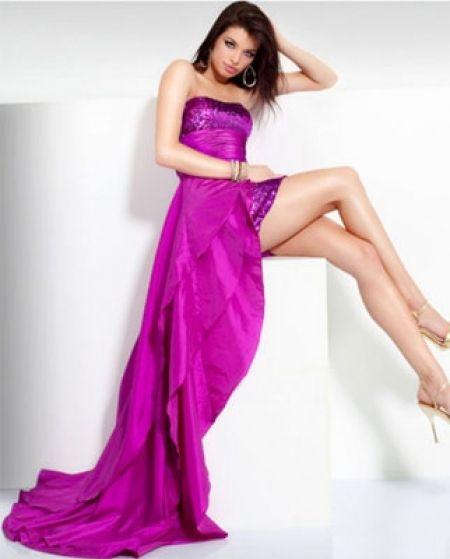 Vestidos De Damas De Honor Color Fiusha Buscar Con Google