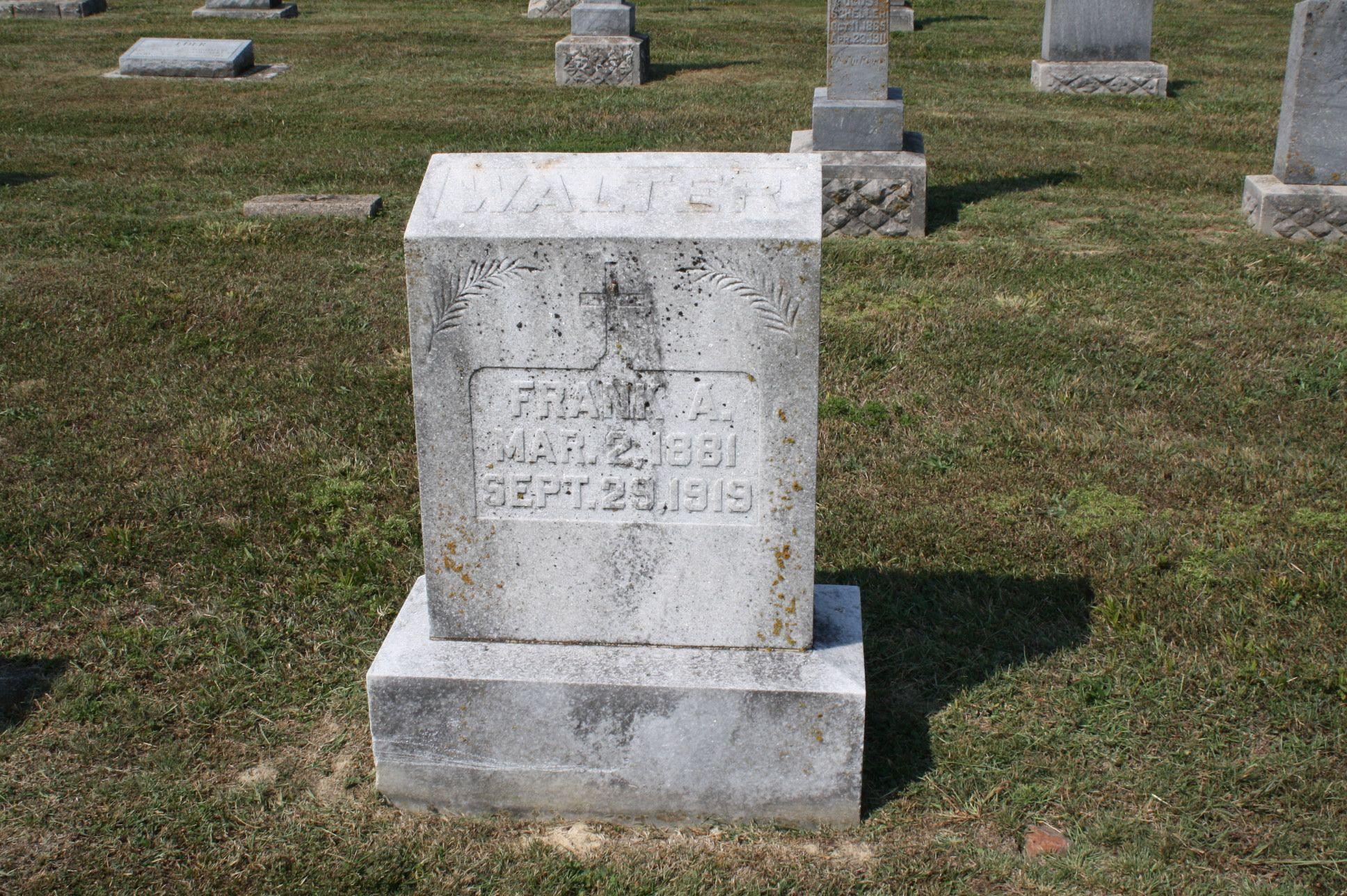 Frank A Walter (1881 - 1919) - Find A Grave Photos