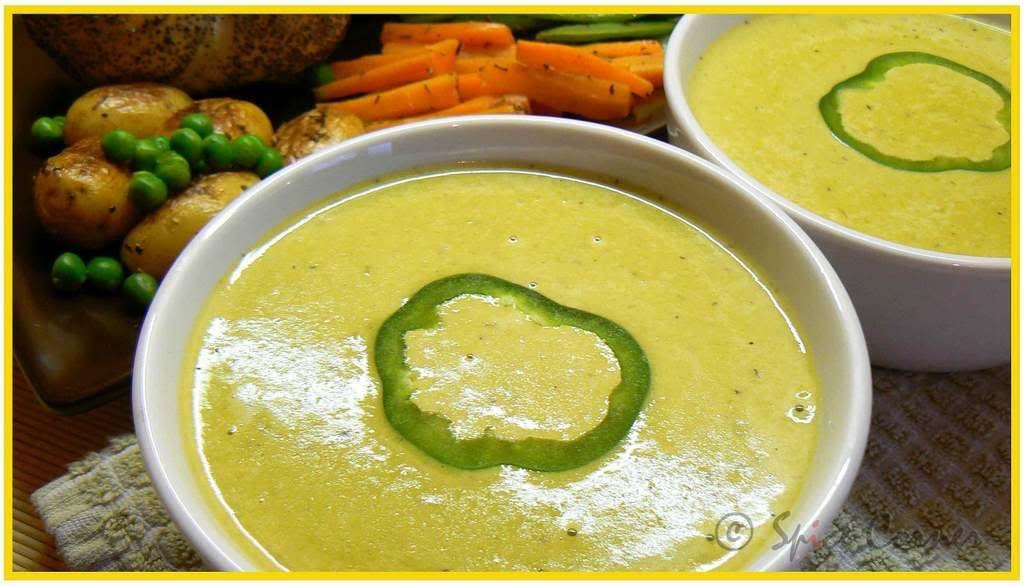 Green Bell Pepper/Capsicum Soup
