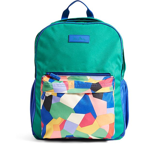 cd8a91999368 Vera Bradley Pop Art Large Color Block Backpack ( 50) ❤ liked on Polyvore  featuring bags