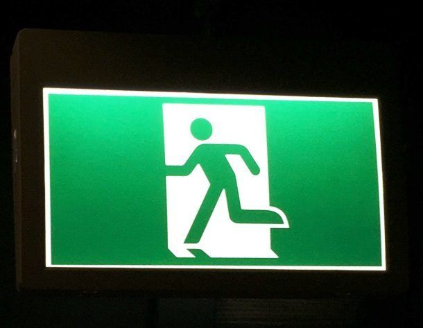 Another Easily Recognized International Symbol The Exit Sign