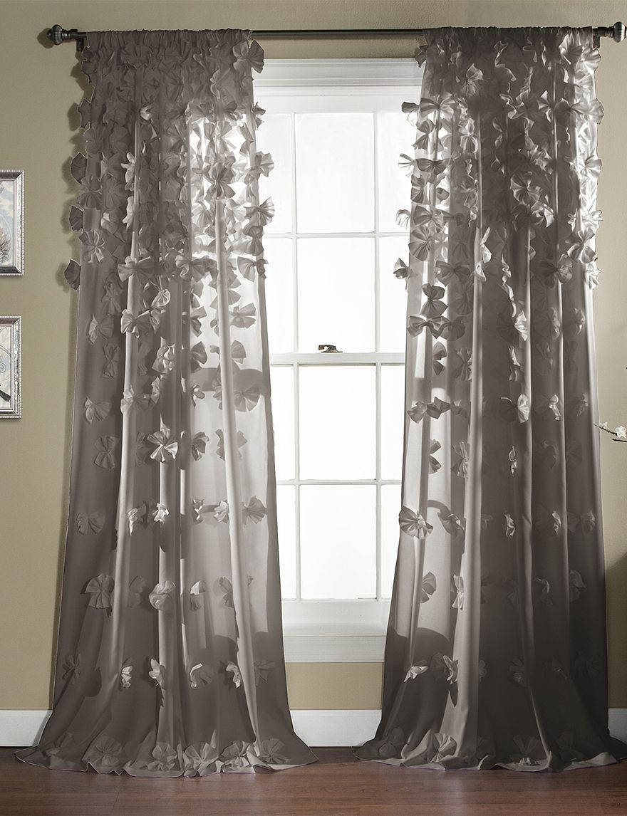 Shop Today For LushDecor Sheer Riley 3 D Bow Curtains Deals On Kids Teens Room Official Site Stage Peebles Goodys Palais Royal Bealls