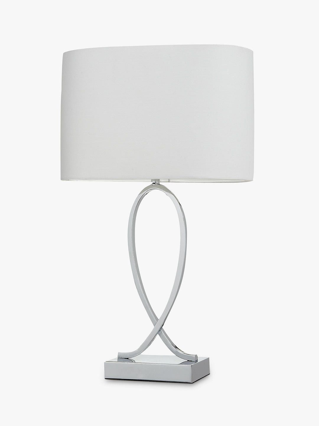 John Lewis Partners New Tom Table Touch Lamp Chrome In 2020 Touch Lamp Lamp Dimmable Table Lamp