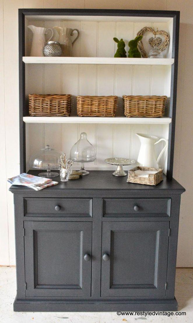 Idée Relooking Cuisine Restyled Vintage Hamptons Style Buffet And - Enfilade merisier 4 portes pour idees de deco de cuisine