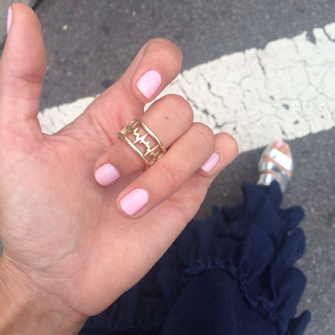 Bound Beat EKG ring in 14k gold, MF by Meghan Farrell jewelry | MF ...