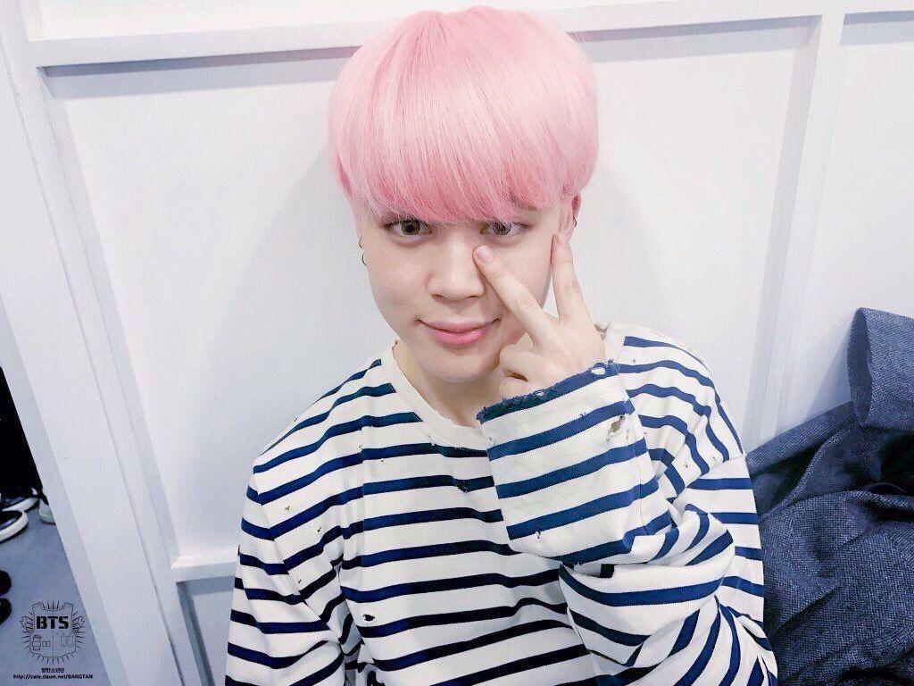 Jimin pink hair Park Jimin 박지민 Pinterest Pink Hair