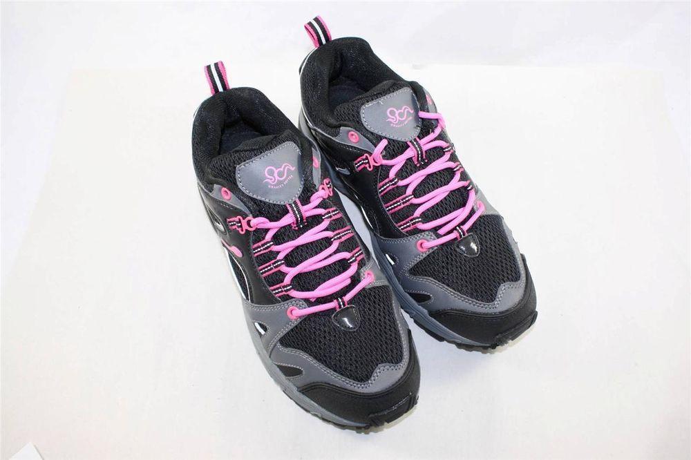NEW Gravity Defyer Orbit Running Sneakers Black Pink Size 10 Comfort Height #GravityDefyer #RunningCrossTraining