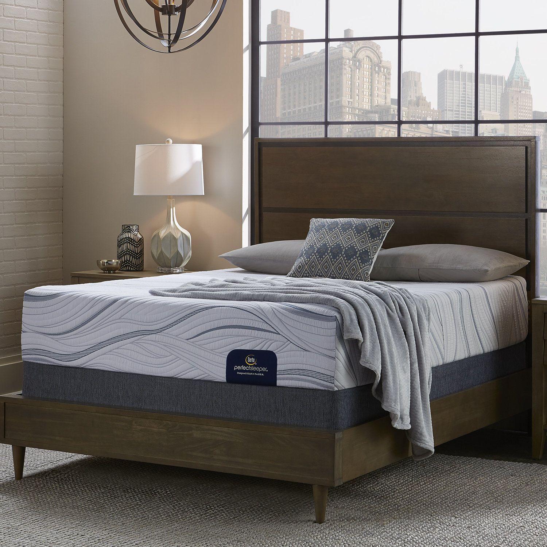 Serta Perfect Sleeper Cedarcrest 10 Inch Queen Size Gel Memory Foam Mattress Set Mattress Sets Mattress Firm Pillows
