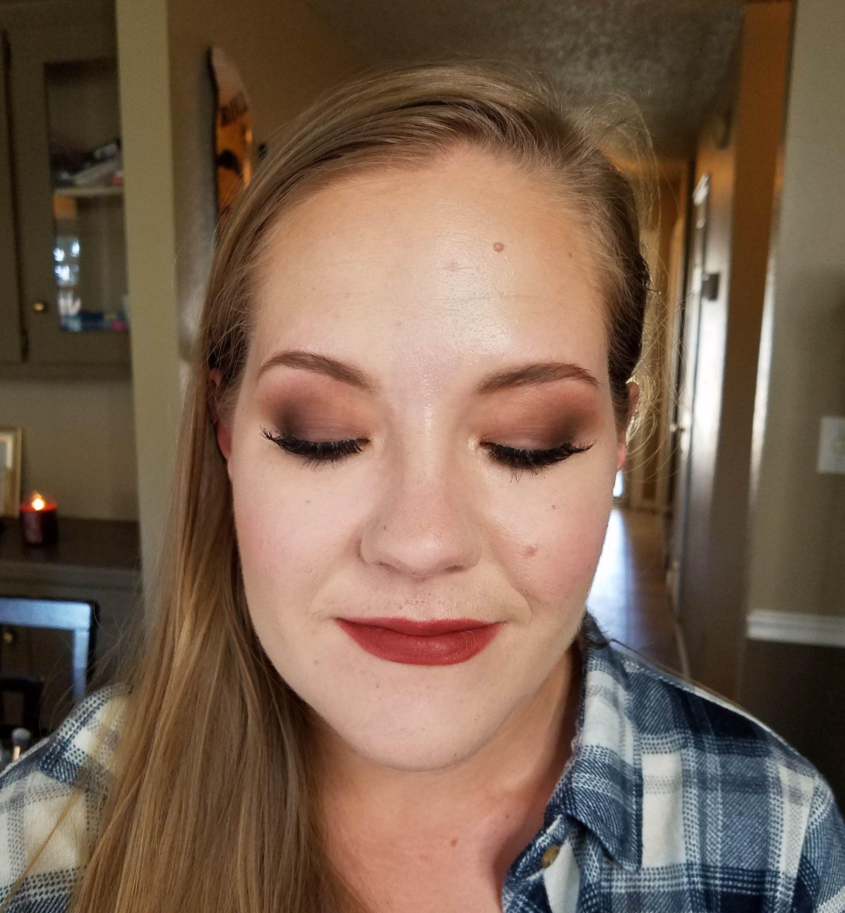 Makeup for a fall family photo shoot. Makeup Artist Megan