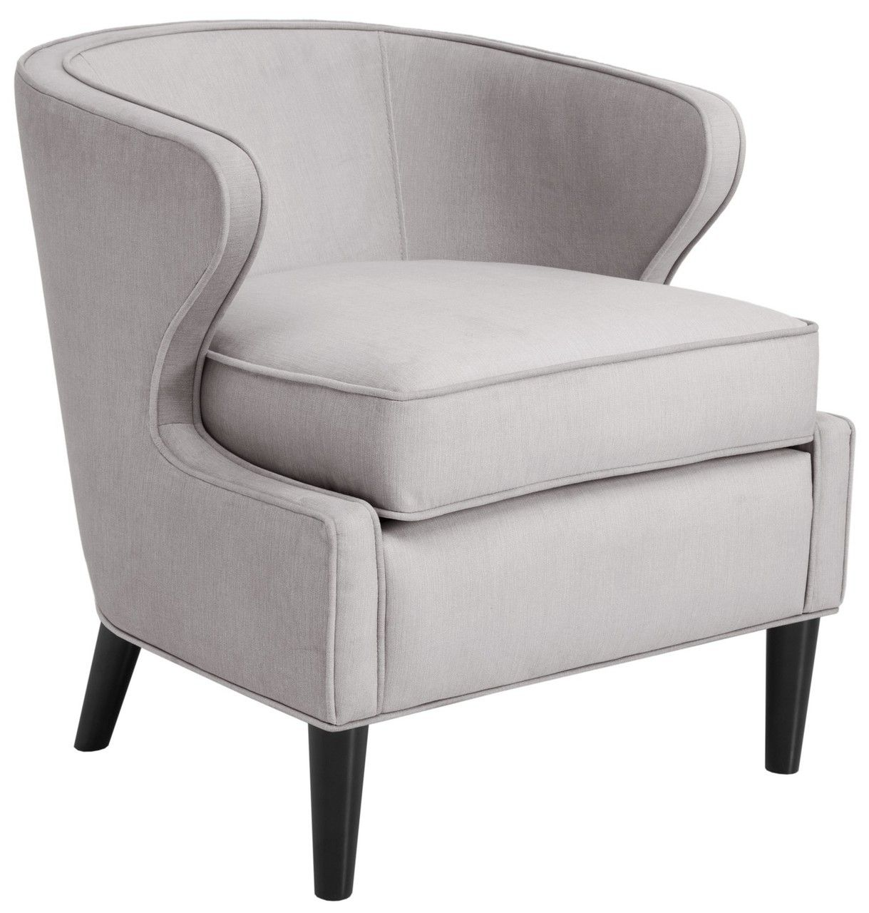 Lucca Rust Extended Arm Chair: Lucca Barrel Chair In Gray