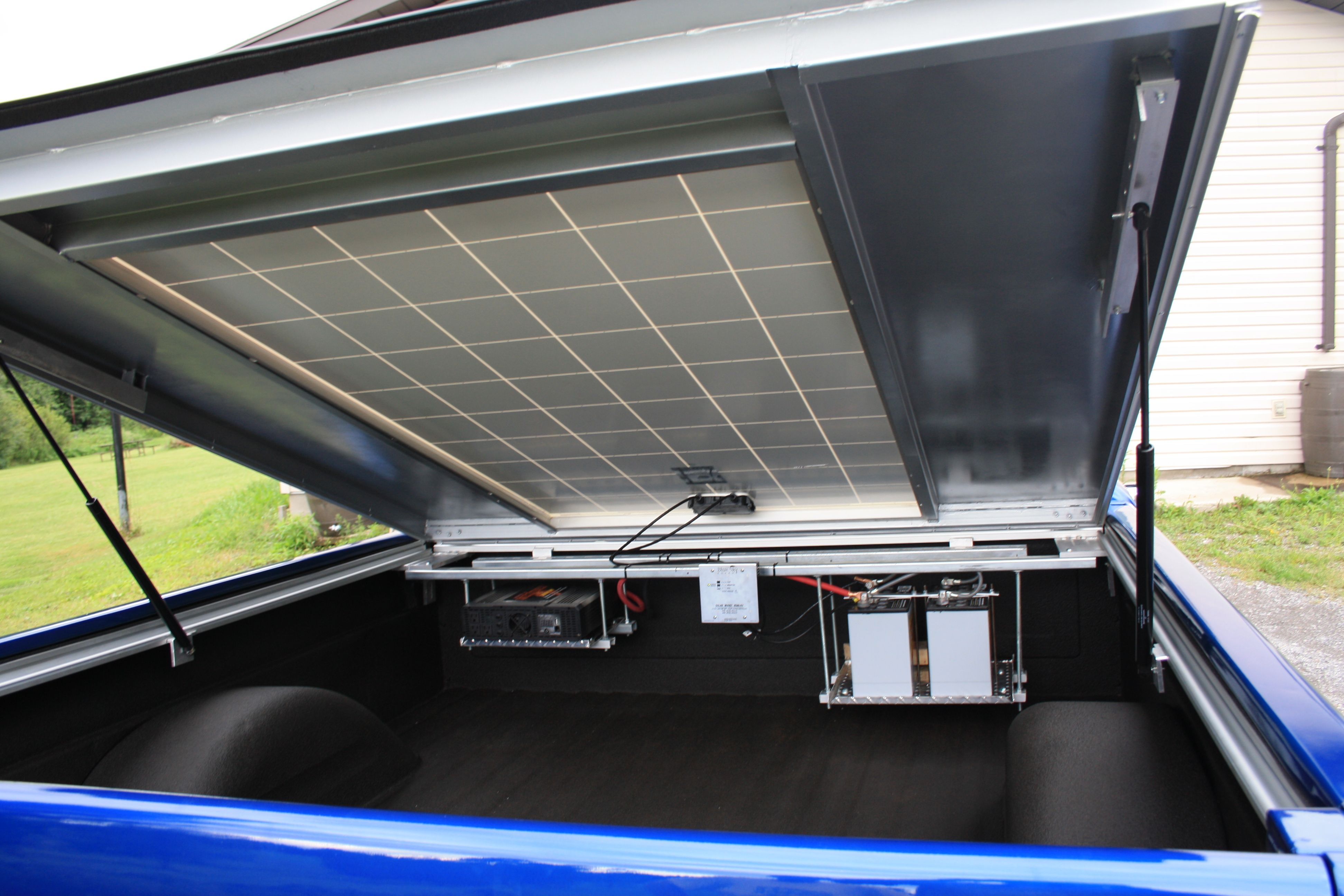 Inside Showing The Generating Side Of The Solar Tonnaeu Cover Tonneau Cover Energy Harvesting Solar