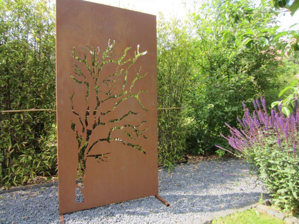 Garten Sichtschutz Aus Metall Sichtschutz Und Metall Im Garten