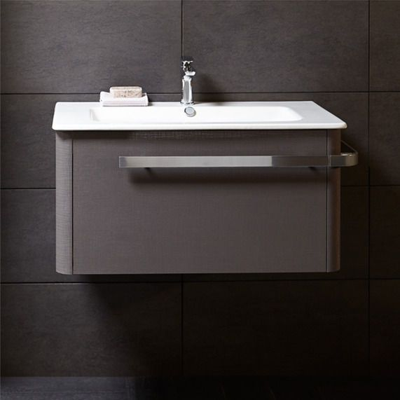 Linen 800 Basin And Wall Mounted Unit Grey Bathstore In