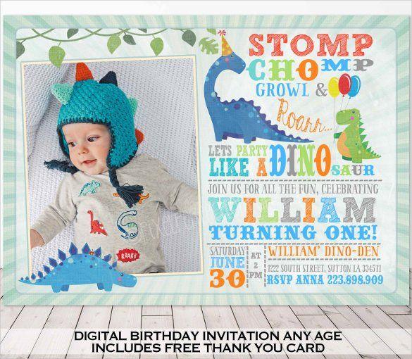 Dinosaur Birthday Invitation Templates 27 Free PSDEPSJPG