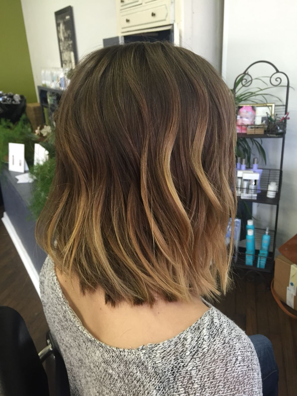 Lob Blunt Long Bob With Ombre Lob Ombre Hair Styles Hair Brained Bob Hairstyles