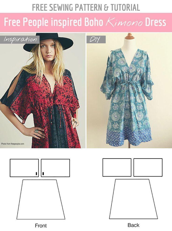 Free Sewing Pattern & Tutorial: Free People inspired summer dress ...