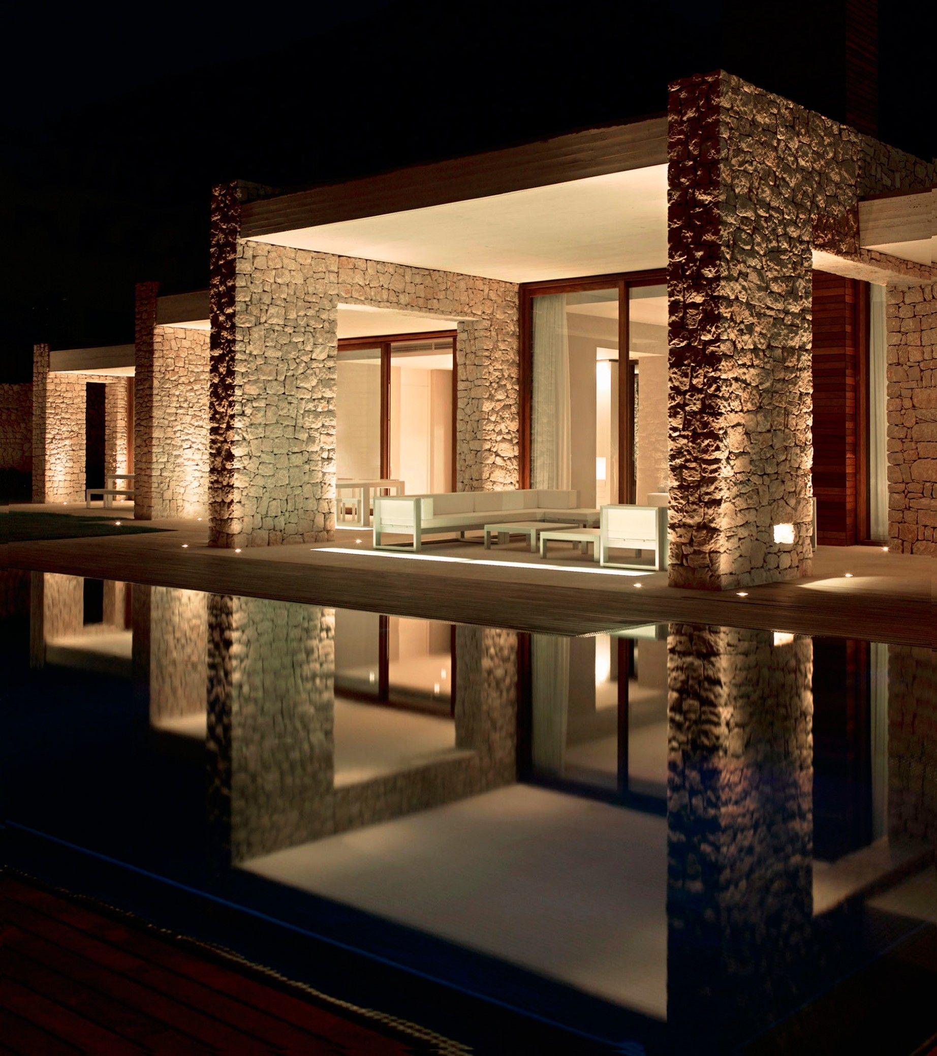 iluminaci n exterior de una casa de dise o ideas de