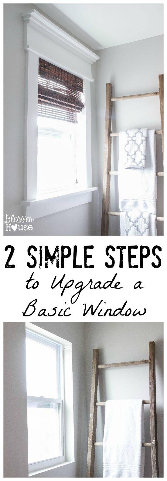 Kitchen window ledge   simple steps to upgrade a basic window  window master bathrooms