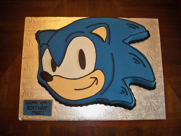 Top Ten Sonic The Hedgehog Cakes With Images Sonic Birthday