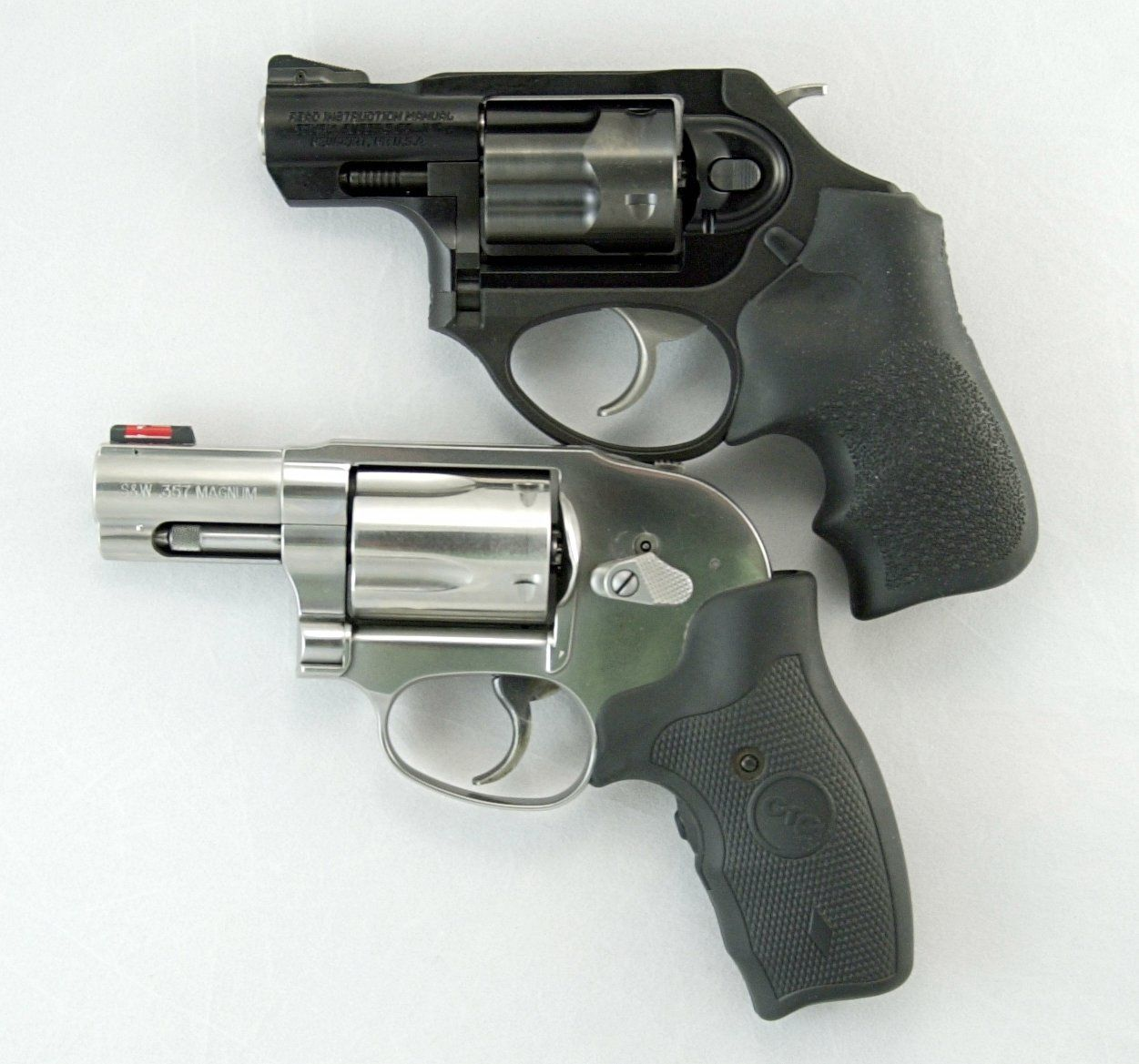 The LCRx is slightly smaller than this .357 magnum J-frame. It\'s ...