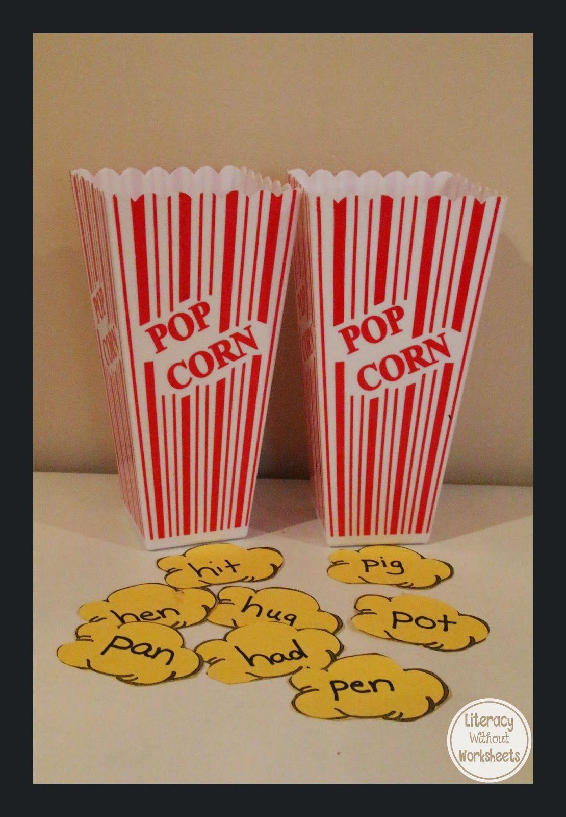 Popcorn Word Families To Practice Cvc Words