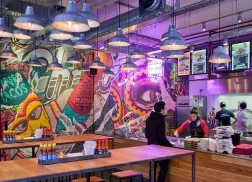 I AM And Chilango Joined Forces To Create An Unforgettable Fast Casual Dining Experience Restaurant Interior DesignRestaurant