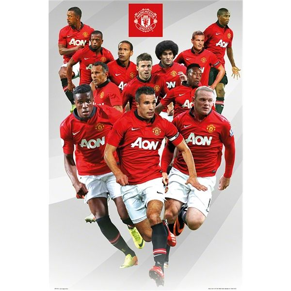 Manchester United 13 14 Players Poster Manchester United Players Manchester United Football Club Manchester United