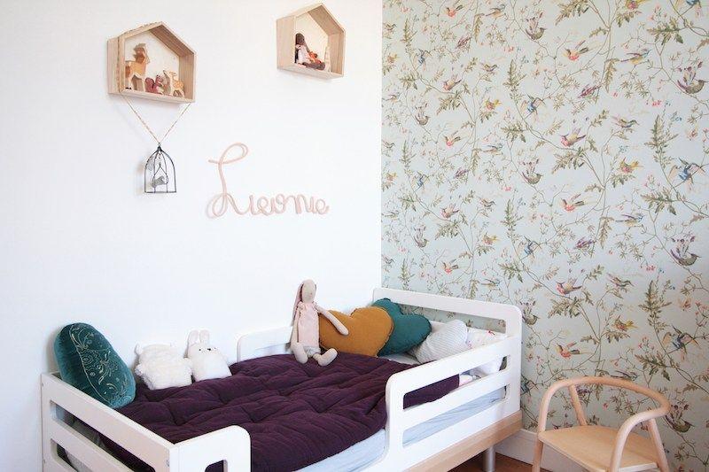 chambre-fille-vintage-retro-romantique-rose-vert-menthe Deco
