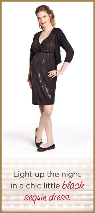 c843383054208 Thyme Maternity Bolero, Black, XS-XL, 714052 // Sleeveless Sequin Maternity  Dress, Black, XS-XL, 713378