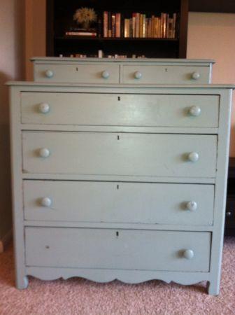 Vintage Keyhole Bilevel Dresser Dresser Home Decor Furniture