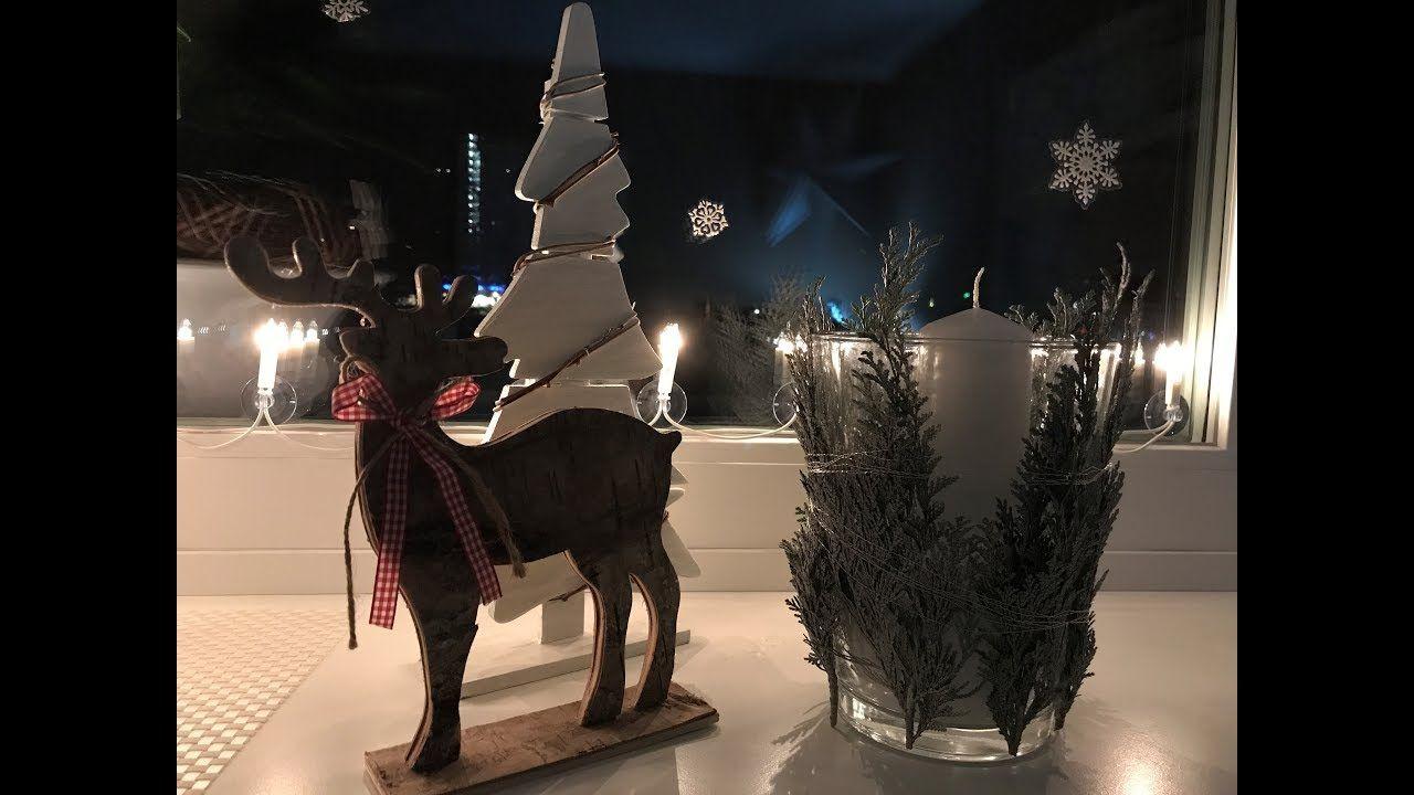 Diy Windlicht Glas Mit Silbertanne Weihnachtsdeko Der Schnellen