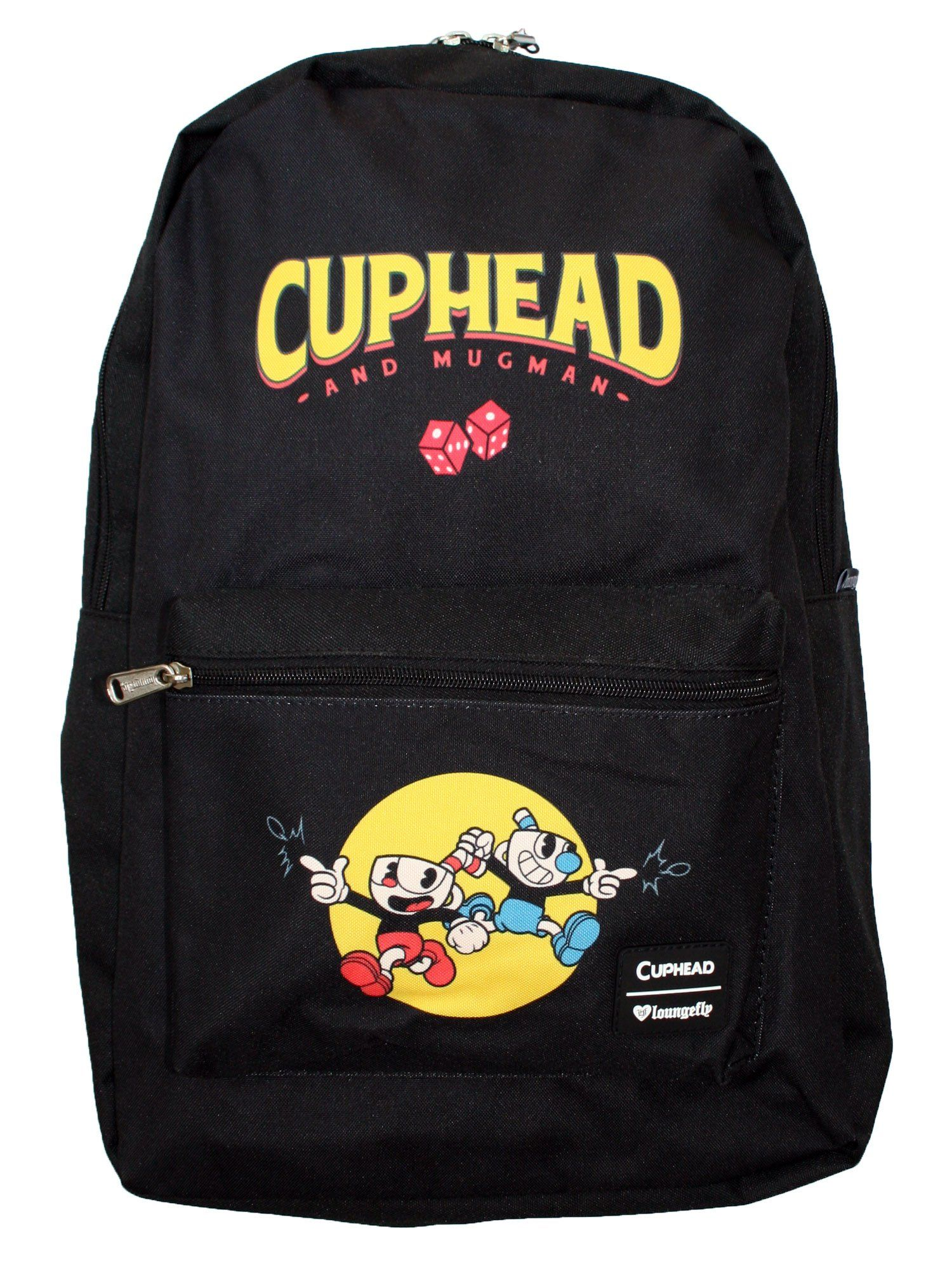 Loungefly Cuphead   Mugman Deal with the Devil Laptop School Backpack bd9215dbdc178