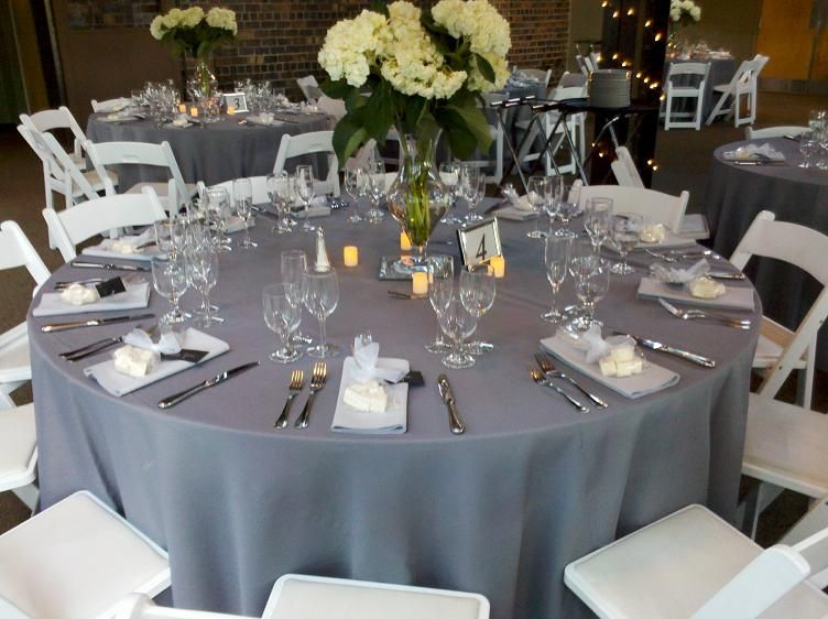 Simple Yet Beautiful Reception Table Setup Charcoal Wedding