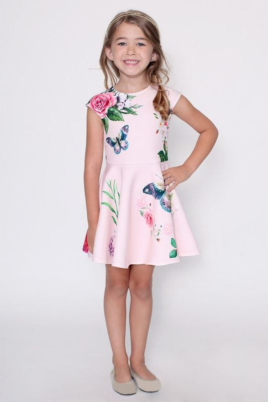 9cd4abced Hannah Banana Spring Dress for Girls in Pink | Easter | Girls spring ...