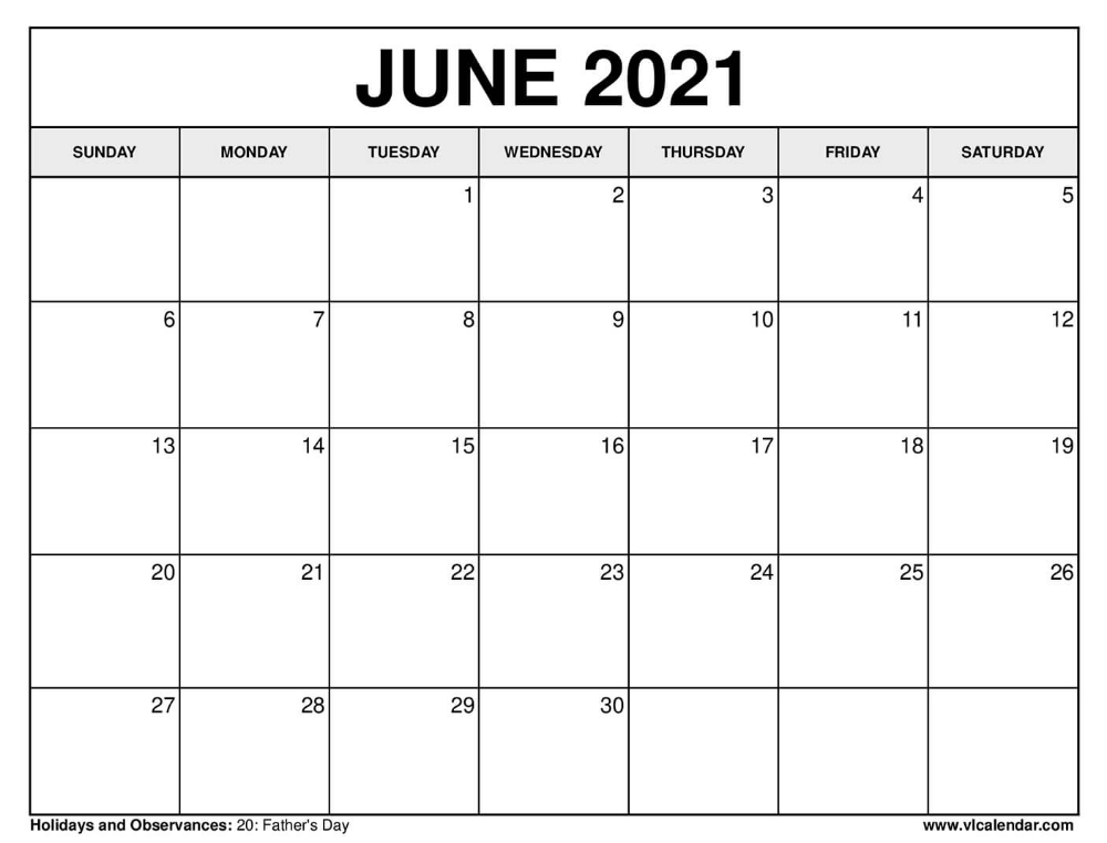 Printable June 2020 Calendars in 2020 2021 calendar